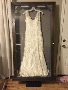 Michaels Framed My Wedding Dress In A Custom Shadow Box I