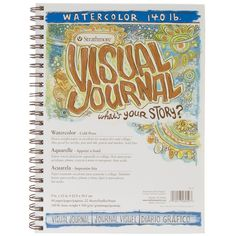 Amazon.com : Strathmore Spiral Bound Visual Journal with 9 by 12-Inch 140-Pound Watercolor Paper : Office Products