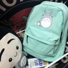 Encontrar Más Mochilas Información acerca de Ghibli Totoro mochila Miyazaki Hayao verde menta Student Schoolbag viajes, alta calidad bolsas de banco, China bolsa, etc Proveedores, barato bolsa de viaje tiempo de miracle wallet en Aliexpress.com