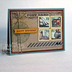 Stampin' Up! Traveler Faux Postage Card