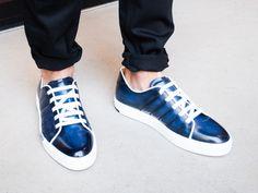 SNEAK OUT #Berluti #Sneaker #blue #sotd #menswear