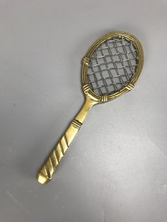 Antiques Atlas - Tennis Racquet Paper Weight Brass C1930 Antique Desk, Antique Glass, Glass Paperweights, Paper Weights, Tennis Racket, Brass, Antiques, Diy, Antiquities