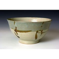 A large bowl by Shoji Hamada. One of hamada's larger bowls. Hamada used a local clay slip under this glaze to produce the blue areas of colour. Pottery Bowls, Ceramic Bowls, Ceramic Art, Stoneware, Pottery Ideas, Large Fruit Bowl, Large Bowl, Bowl Sink, Paper Basket
