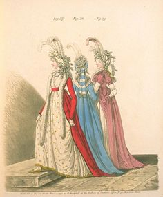 Gallery of Fashion, figures 37, 38, and 39.  January 1795
