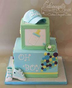 always with cake boy baby shower