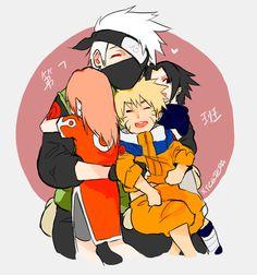 xtcetera: i'm feeling emotions from the latest naruto shippuden episode Kakashi Hatake, Naruto And Sasuke, Naruto Team 7, Naruto Family, Naruto Cute, Shikamaru, Sakura And Sasuke, Naruto Shippuden Anime, Anime Naruto