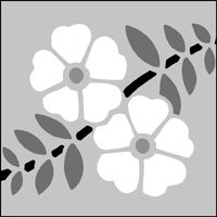 "Brandling Park stencil design from Stencil Library in UK. Catalog design #60, 3 x 12"" (76 x 305mm), £11.75"