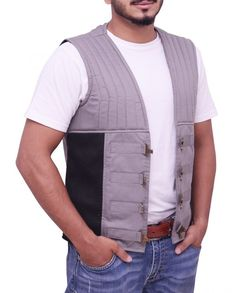 Dark Tower Idris Elba Gunslinger Vest Idris Elba Dark Tower, Roland Deschain, The Dark Tower, Vest, Celebrities, Cotton, Jackets, Black, Style