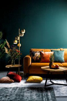 Living Room Green, Home Living Room, Living Room Designs, Living Room Decor, Bedroom Decor, Teal Living Rooms, Room Color Schemes, Room Colors, House Colors