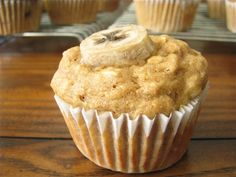 Jam filled peanut butter & banana muffins.... sounds good!