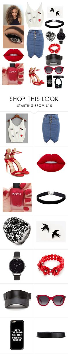 """Melanie H."" by mgtswag-101 ❤ liked on Polyvore featuring Salvatore Ferragamo, Lime Crime, Zoya, Miss Selfridge, West Coast Jewelry, Olivia Burton, Kim Rogers, Alexander McQueen, Casetify and Jil Sander"
