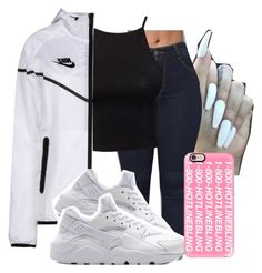✨ by baddiest-bish on Polyvore featuring polyvore fashion style Estradeur NIKE Casetify clothing