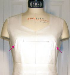 fitting for length adjustments and determining bust, waist, and hip position – In-House Patterns