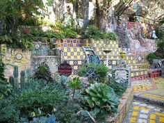 Garden of Oz - private mosaic garden in Hollywood, California
