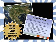 This geography introduction is simple, but FANTASTIC! The satellite picture tells the story behind geography better with a realistic, clear picture. As you click, different geographical features labels appear on the map.The lesson includes teacher suggestions with possible questions so pose and a PowerPoint map.This activity pairs perfectly with the Where in the World Geography lesson map and scavenger hunt activity also posted on our store.***SAVE BIG!