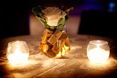 Wine corks submurged in vase, unique!