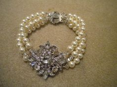 Bracelet Victorian Art Deco Bridal bracelet Multi by ohmyliferocks, $45.00