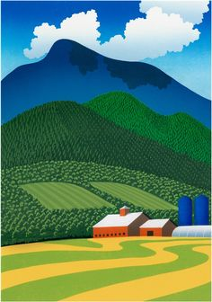 Sabra Field Green Mountain Mowing - Sabra Field - Sabra Field Art - Green Mountain Art - Barn Art - Vermont Art - Vermont Made Art