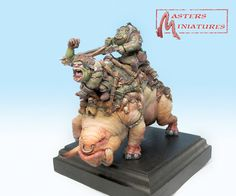 Master Miniatures - Orque Warbeast Front