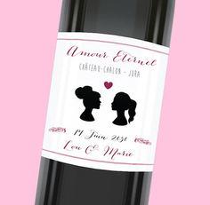 Etiquette de bouteille mariage unique pour un amour éternel, réf.N300958
