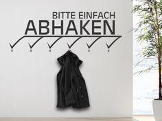 Bitte einfach abhaken: #Wandtattoo #Garderobe Abhaken
