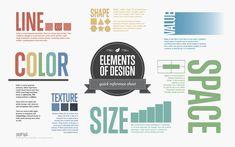 Les éléments de base du design #infographics