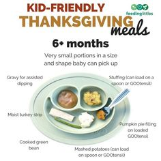 Need some Thanksgiving inspo for your little one? Feeding Littles Baby Led Weaning First Foods, Moist Turkey, Cooking Green Beans, Loaded Potato, Baby Eating, Meals For One, Thanksgiving Recipes, Little Babies, Baby Food Recipes