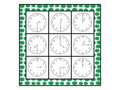 Time Bingo - Whole Class Set (33 BINGO BOARDS). School Resources, Teaching Resources, Teaching Ideas, English Activities, Kids Learning Activities, Love Math, Fun Math, Math Classroom, Kindergarten Math