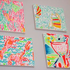 DIY Lilly Pulitzer canvases