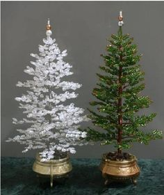 Christmas trees from beads