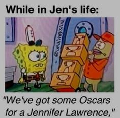 Hunger games humor/ spongebob/ Oscars/ Jennifer Lawrence