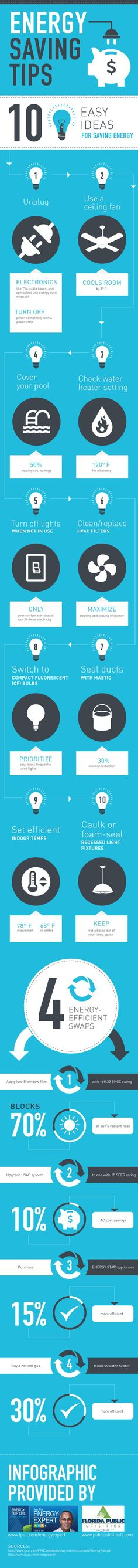 Setting your water heater at 120° F can help maximize your home's efficiency. To save even more, make the switch to a natural gas tankless water heater. For more energy-saving tips, check out this infographic from an energy company in West Palm Beach.