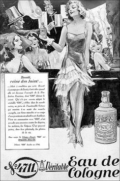 the 1930s-ad for Eau de Cologne    1931-L'illustration