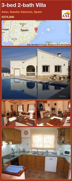 3-bed 2-bath Villa in Ador, Gandia   Valencia, Spain ►€375,000 #PropertyForSaleInSpain