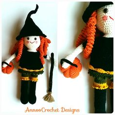 Clementine the Friendly Witch Free Tutorial By AnnooCrochet Designs