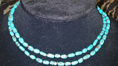 Who me??: Turquoise silk knotted necklace