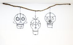 Day Of The Dead Skulls Wire