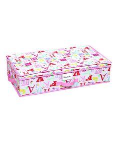 Owlphabet Under-Bed Storage Box by Laura Ashley Home #zulily #zulilyfinds