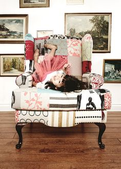 Patchwork wingback chair by andreafordrestyle on Etsy, $1600.00