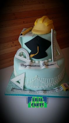 Civil Engineer Cake- Architect Cake by Liliacakes