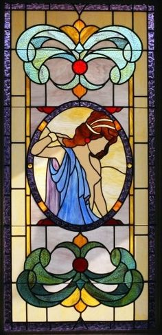 stained glass women   woman stained glass art by paddlewheelstainedglass.com   Stained Glass ...