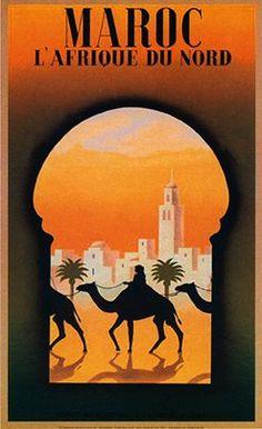 Carteles antiguos de Marruecos, fantasías publicitarias de la primera mitad del siglo XX