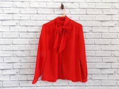 Red Country Sophisticates Long Sleeved Blouse by InfinityAmpersand