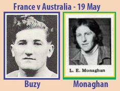 Rugby Tickets, Australia Rugby, The Past, France, Baseball Cards, History, Games, Historia, Gaming