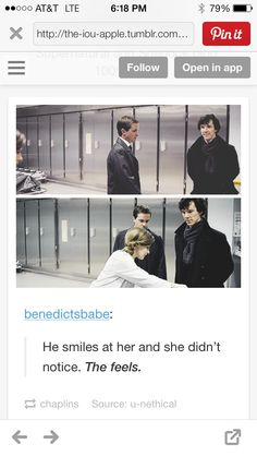 Sherlock smiled at Molly.....but she didn't notice. And then he looked sad. <---- Heartbreakingly sad. :(
