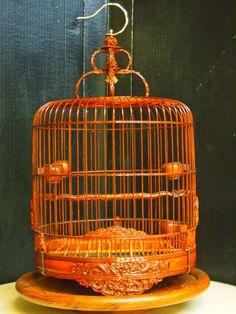 Bamboo Bird Cages Set