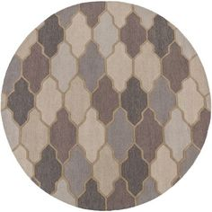 Pollack Morgan Gray Round: 8 Ft Rug - (In Round)