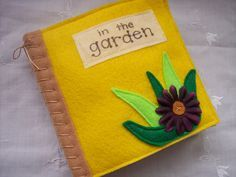 Quiet Book/Sensory Book of Touch and Feel In The by lizzieboutique, $22.00