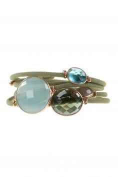 mogul I #leather #bracelet with various #gemstones I designed by marjana von berlepsch I NEWONE-SHOP.COM Bracelet Designs, My Design, Stud Earrings, Gemstones, Bracelets, Shop, Leather, Beauty, Jewelry
