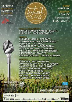 O FESTIVAL DE LA LUZ FECHA CARTEL CON 41 GRUPOS Boimorto acolle o evento entre o 11 e o 13 de setembro